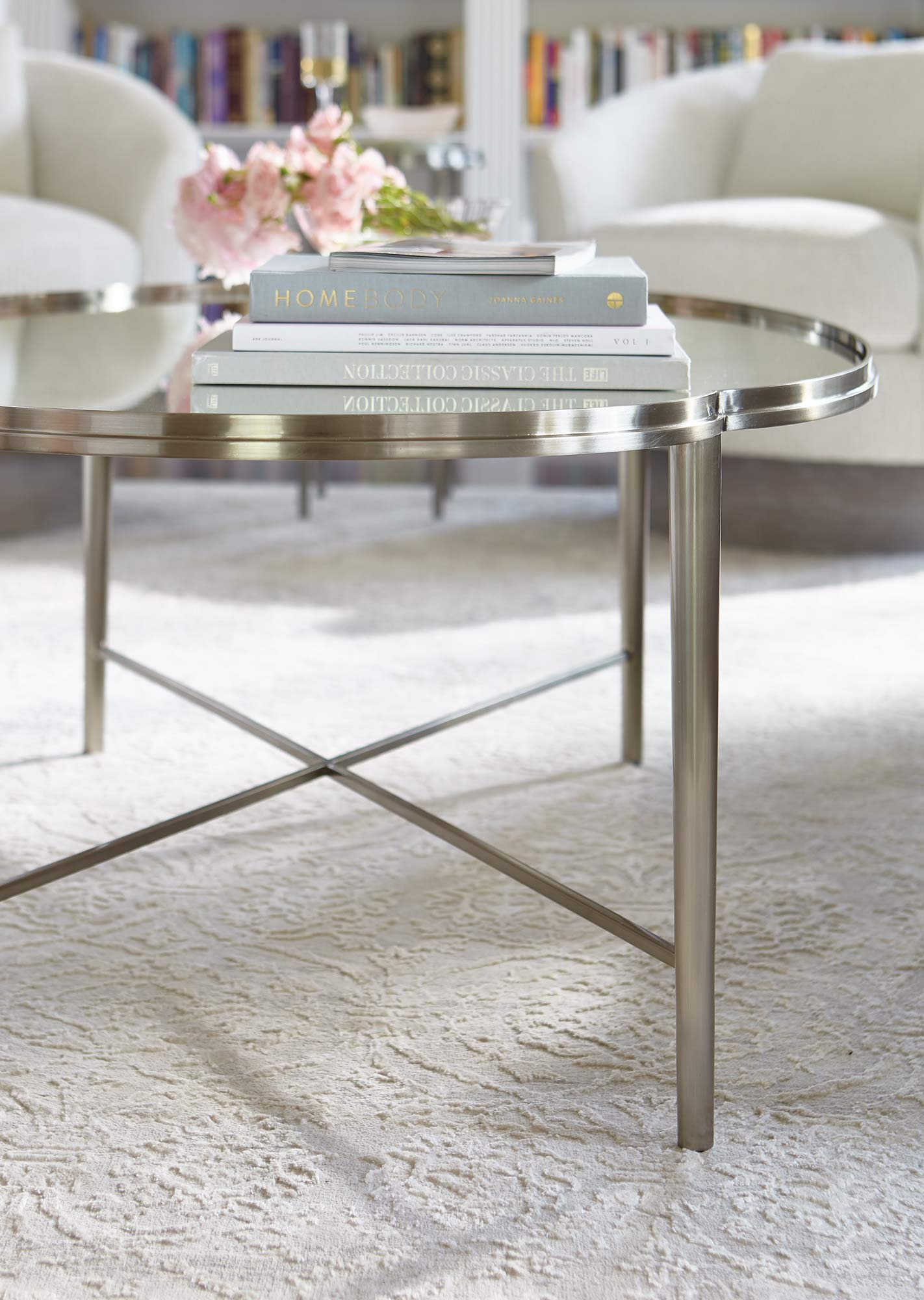 Metal Oval Cocktail Table Bernhardt Hospitality